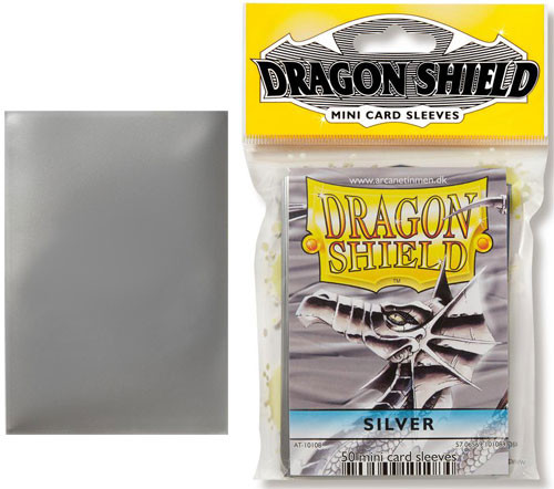 Dragon Shield Sleeves: Classic - Japanese Size - Silver (50)