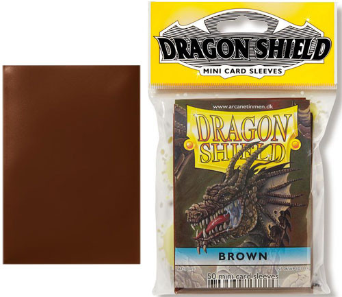 Dragon Shield Sleeves: Classic - Japanese Size - Brown (50)