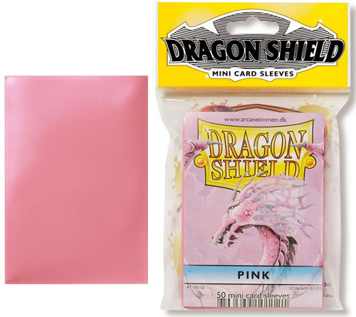 Dragon Shield Sleeves: Classic - Japanese Size - Pink (50)
