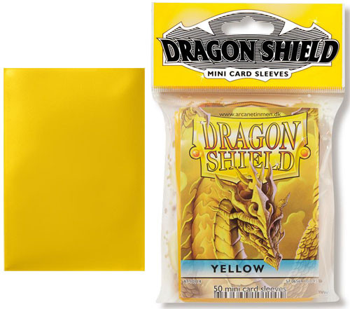 Dragon Shield Sleeves: Classic - Japanese Size - Yellow (50)