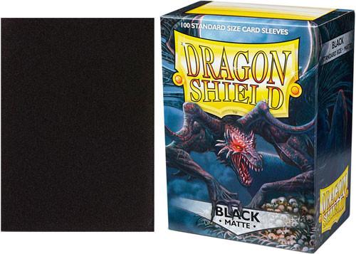 Dragon Shield Sleeves: Matte - Black (100)