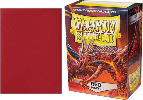Dragon Shield Sleeves: Matte - Red (100)