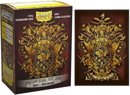 Dragon Shield Sleeves: Brushed - General Vicar Coat of Arms (100)