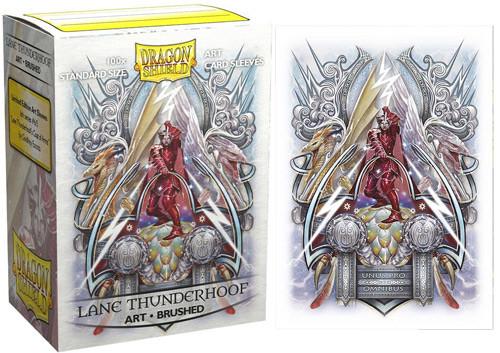 Dragon Shield Sleeves: Brushed - Lane Thunderhoof Coat of Arms (100)