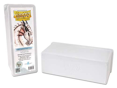 Dragon Shield Four Compartment Gaming Box - White