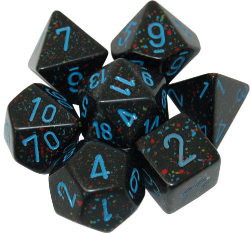 Chessex: Polyhedral Dice Set - Speckled Blue Stars (7)