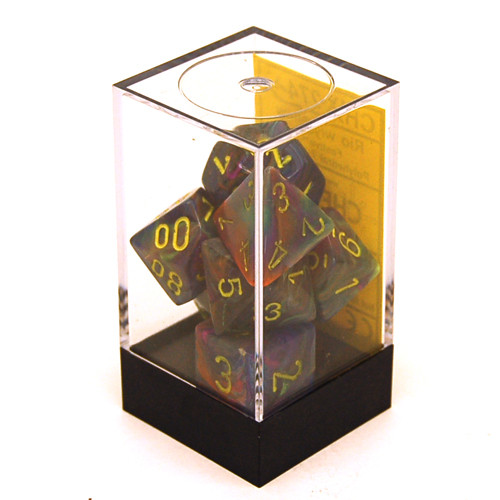 Chessex: Polyhedral Dice Set - Festive Rio w/ Yellow (7)