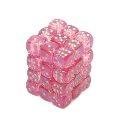 Chessex: 12mm Dice Block - Borealis Pink w/Silver (36)