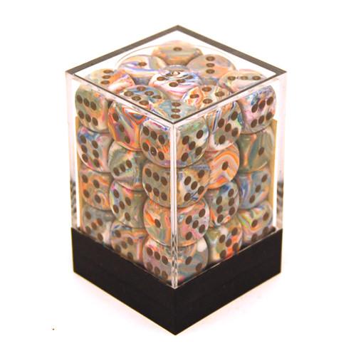 Chessex: 12mm Dice Block - Festive Vibrant w/ Brown (36)