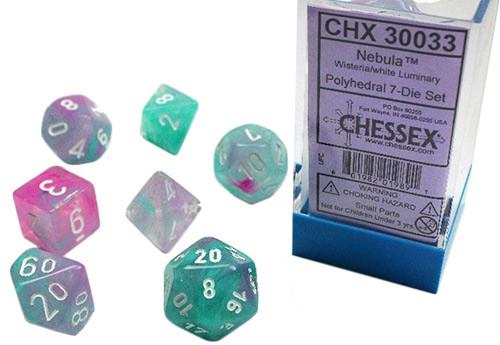 Chessex Polyhedral Dice Set: Lab - Luminary Nebula Wisteria