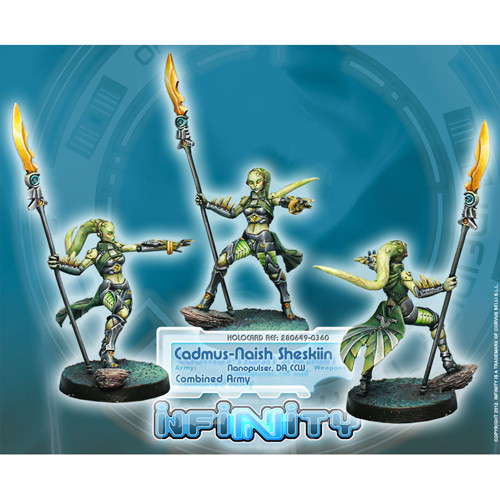Infinity: Combined Army - Cadmus-Naish Sheskiin (Nanopulser, DA CCW)