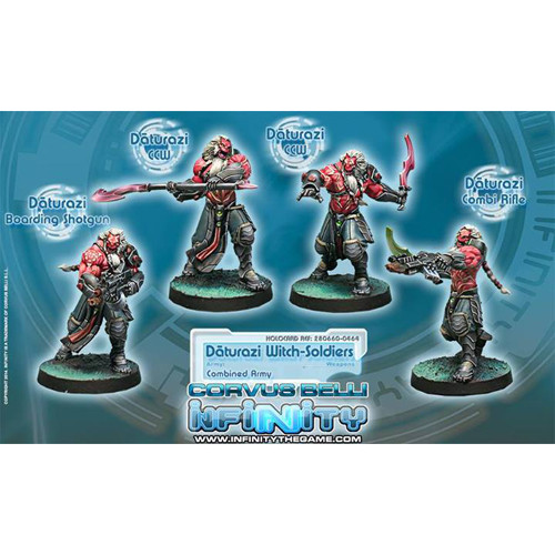 Infinity: Combined Army - Daturazi Witch-Soldiers Box (4)