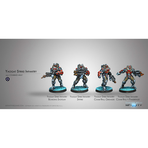 Infinity: Combined Army - Yaogat Strike Infantry (4)