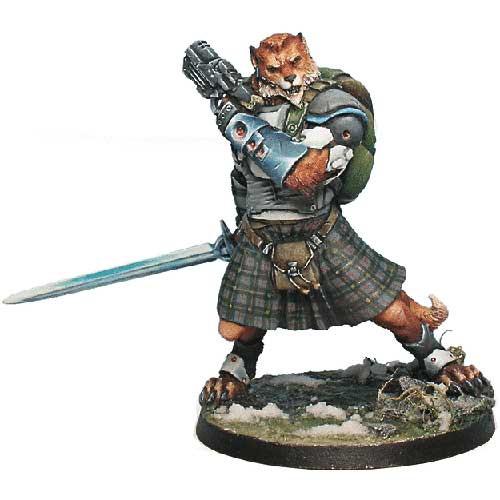 Infinity: Mercenaries - McMurrough Mercenary Dog-Warrior (Templar CCW)