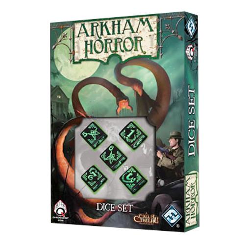 Arkham Horror - Black/Green Dice Set (5)