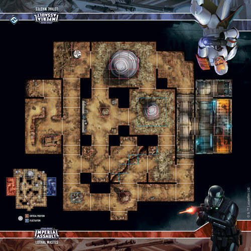 Star Wars Imperial Assault: Lothal Wastes Skirmish Map