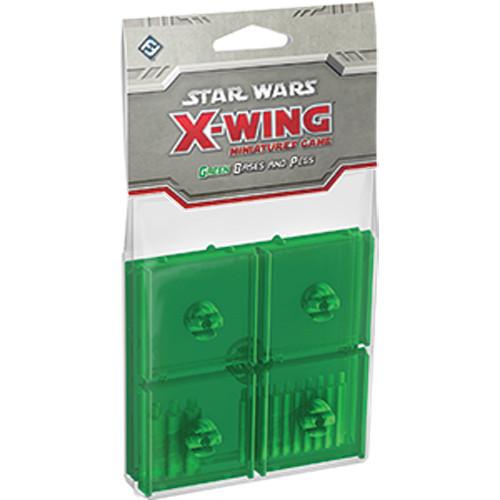 Star Wars: X-Wing - Base and Peg Set (Green)