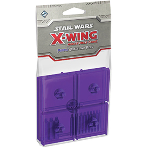 Star Wars: X-Wing - Base and Peg Set (Purple)