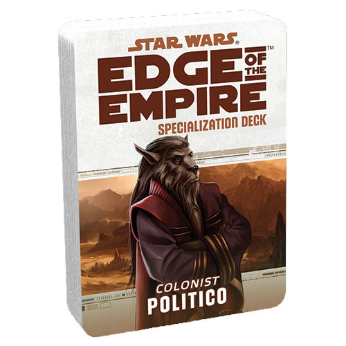 Star Wars: Edge of the Empire RPG - Specialization Deck: Politico