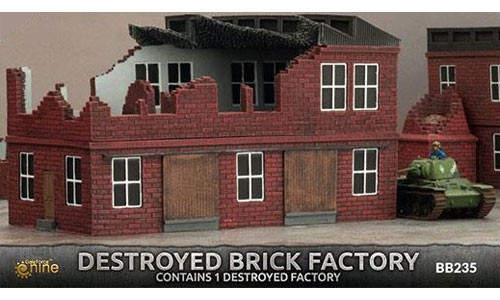 Flames Of War Ww2 Destroyed Brick Factory Table Top