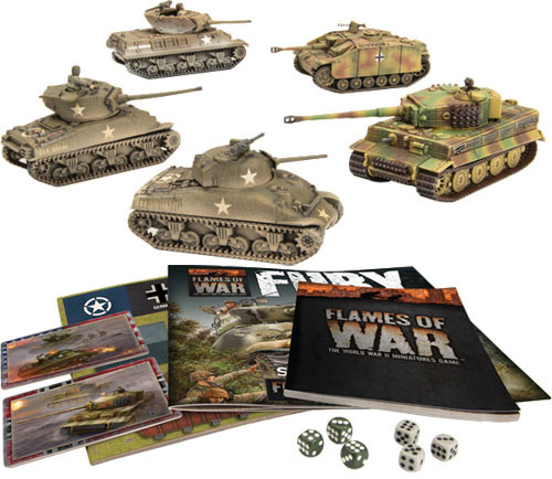 Flames of War: WW2 - Fury Starter Set   Table Top Miniatures