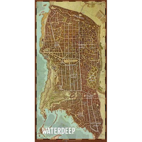 D&D 5E RPG: Waterdeep - City Map