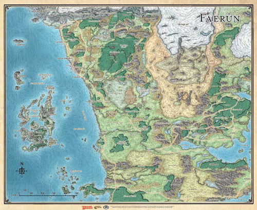 Northern Faerun Map