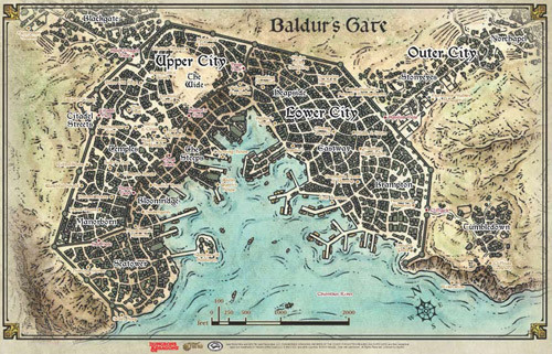 D&D 5E RPG: Baldur's Gate Map