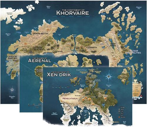 D&D 5E RPG: Eberron Rising from the Last War - Khorvaire Map Set