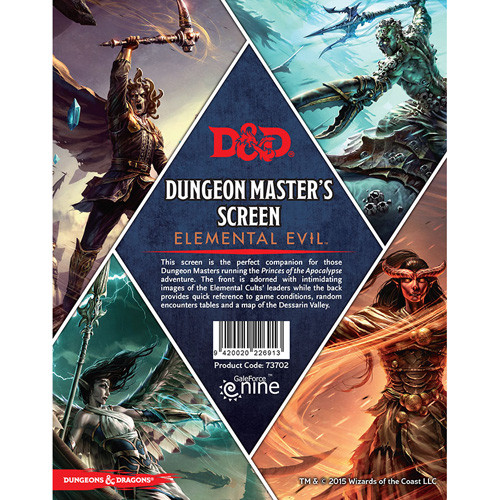D&D RPG: Elemental Evil - Dungeon Master's Screen