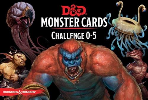 D&D RPG: Monster Cards - Challenge 0-5