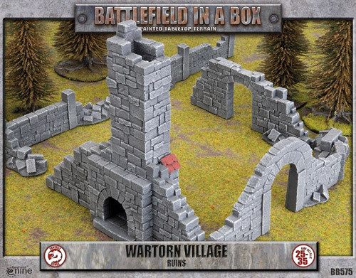 Battlefield in a box Wartorn Village Ruins NEW Scenery Warhammer Fantasy Sigmar