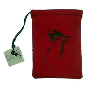Dice Bag - Black Dragon Print
