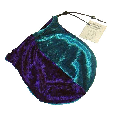 Dice Bag - Velvet Purple and Turquoise