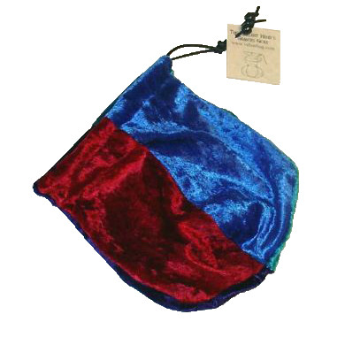 Dice Bag - Velvet Jester w/ Red, Blue, Purple, Turquoise