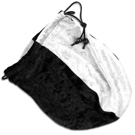 Dice Bag - Velvet Black and White