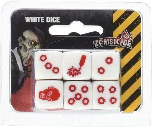 Zombicide: White Dice Set (6)