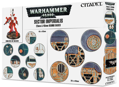 Warhammer 40K: Sector Imperialis 25 & 40mm Round Bases