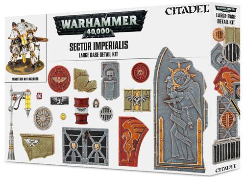 Warhammer 40K: Sector Imperialis Large Base Detail Kit