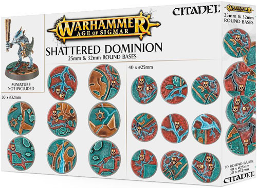 Age of Sigmar: Shattered Dominion - 25 & 32mm Round Bases