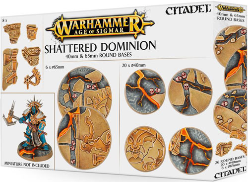 Age of Sigmar: Shattered Dominion - 40 & 65mm Round Bases