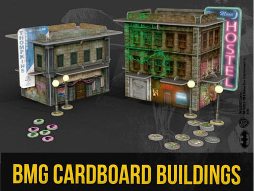 Batman Miniatures Game: Cardboard Buildings (2) | Table Top