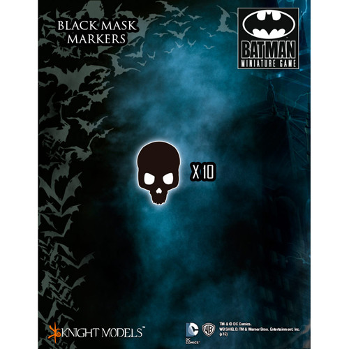 Batman Miniatures Game: Black Mask Markers (10)