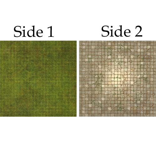 Battle Mat Board: Dungeon & Grassland