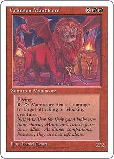 Crimson Manticore - 4th Edition