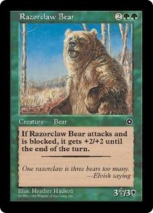 Razorclaw Bear - Portal Second Age | Magic The Gathering