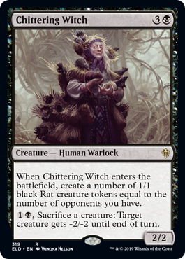 Magic the Gathering: Chittering Witch - Throne of Eldraine