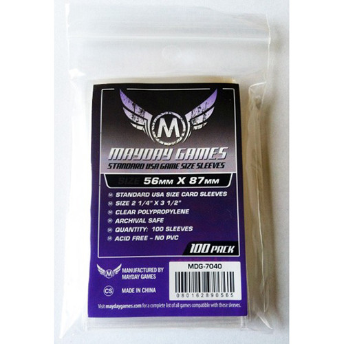 Mayday Sleeves: Standard USA Size (100)
