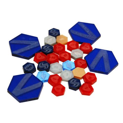 DreadBall: Xtreme Acrylic Counters (Blue)