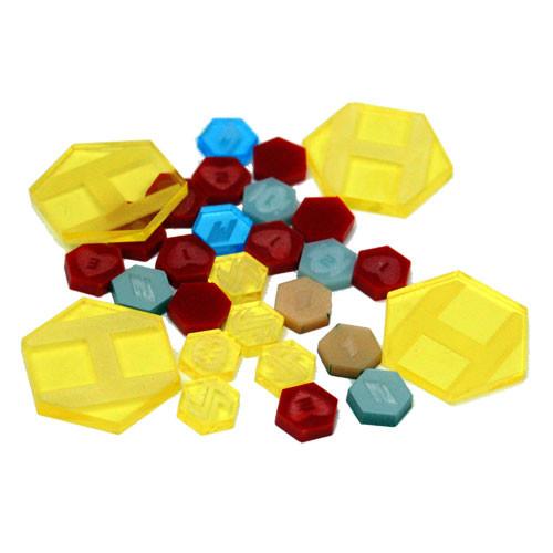 DreadBall: Xtreme Acrylic Counters (Yellow)